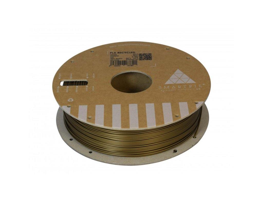 PLA filament z recyklátu zlatý 1,75 mm Smartfil 0,75kg