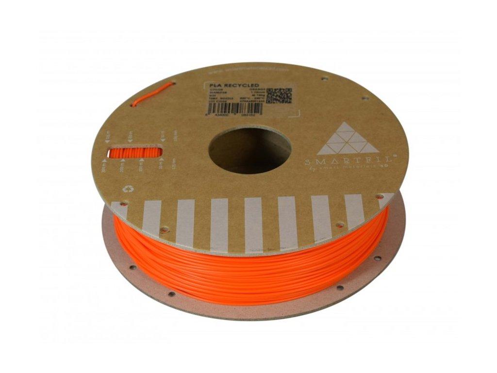 PLA filament z recyklátu oranžový 1,75 mm Smartfil 0,75kg