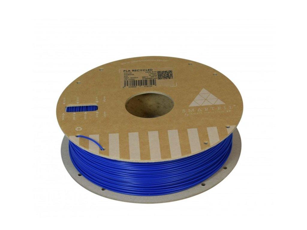 PLA filament z recyklátu tmavě modrý 1,75 mm Smartfil 0,75kg