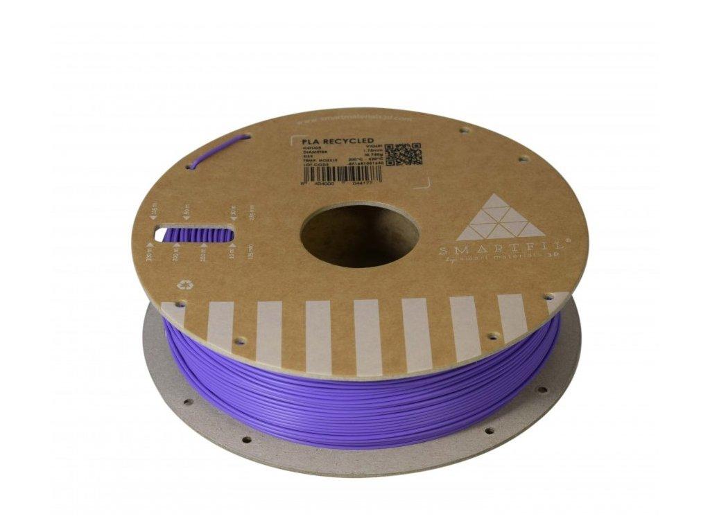 PLA filament z recyklátu fialový 1,75 mm Smartfil 0,75kg