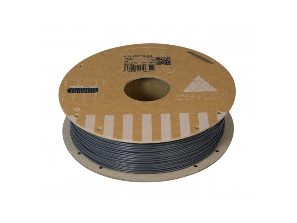 PLA filament z recyklátu tmavě šedý 1,75 mm Smartfil 0,75kg