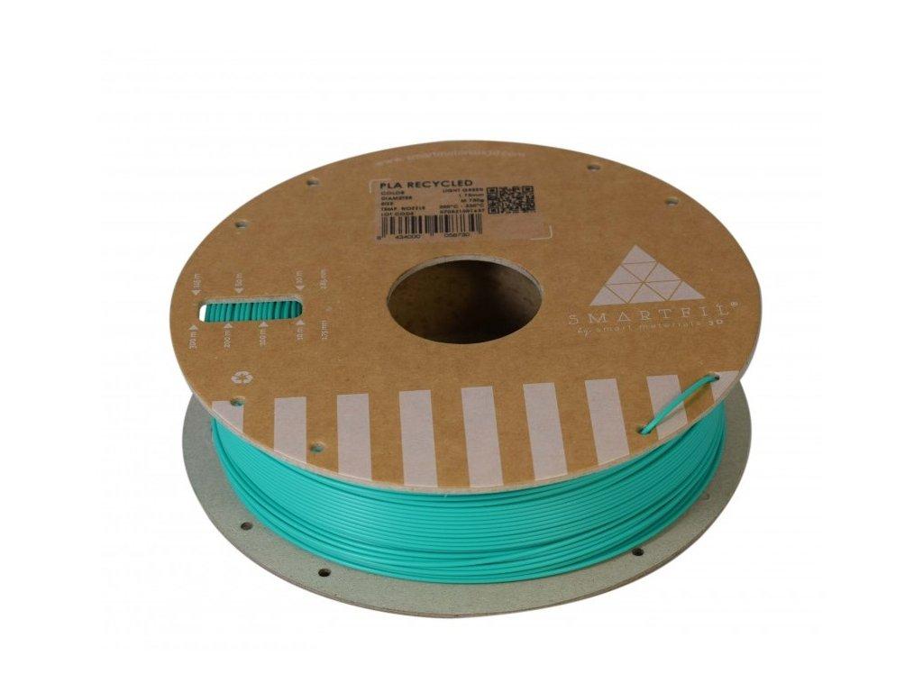PLA filament z recyklátu světle zelený 1,75 mm Smartfil 0,75kg