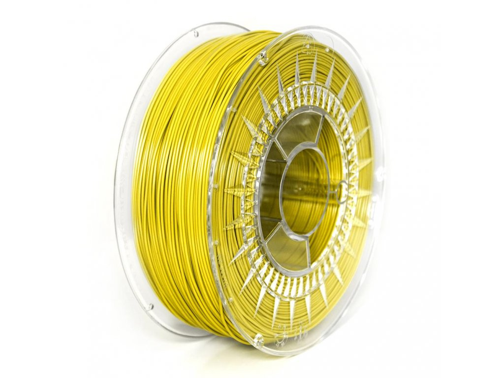 PET-G filament 1,75 mm žlutý Devil Design 1 kg