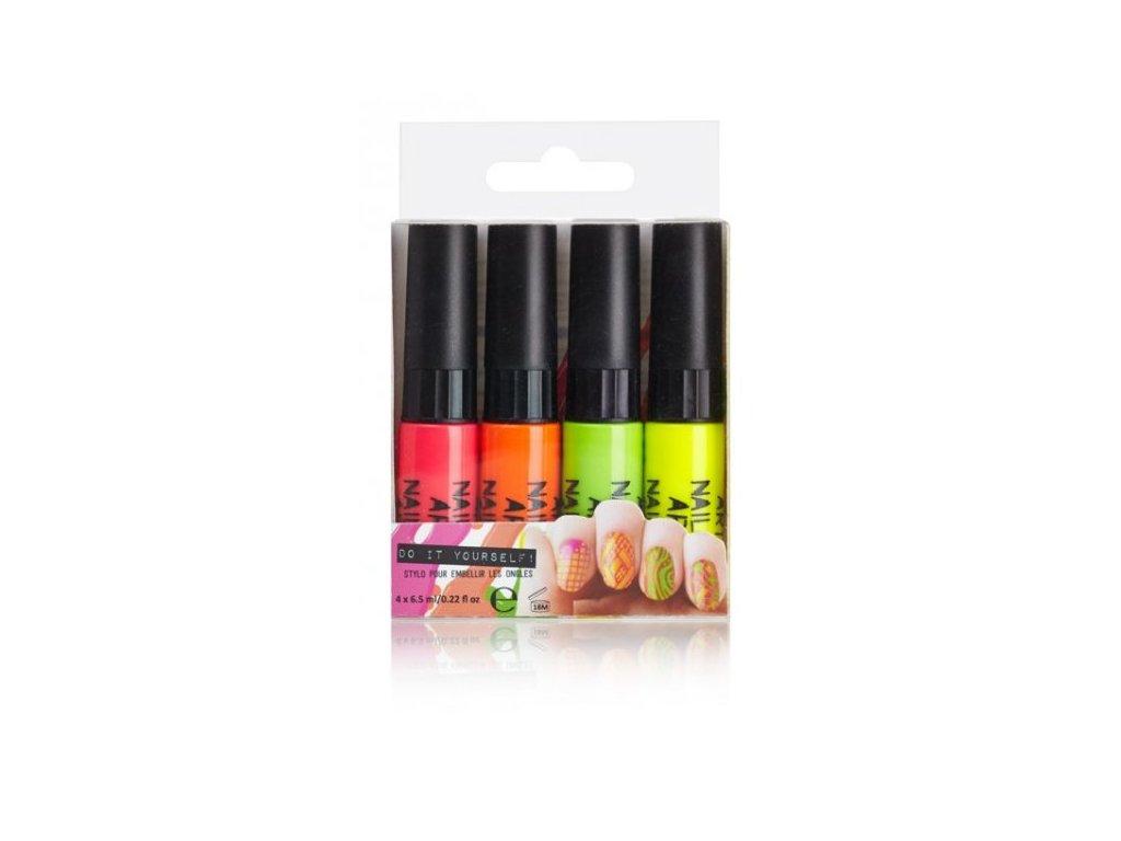 Neonové laky na nehty 4ks