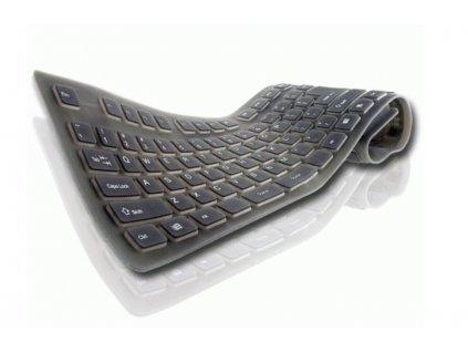Silikonová klávesnice - Černá