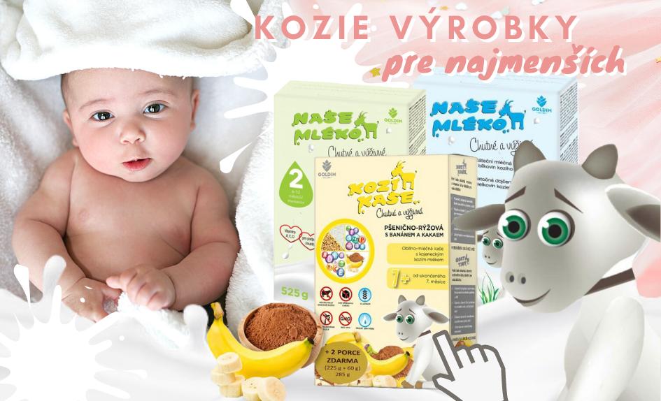 Výrobky z kozieho mlieka pre najmenších