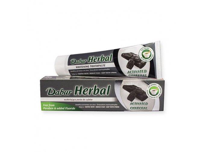 Dabur bieliaca zubná pasta saktívnym uhlím 100ml