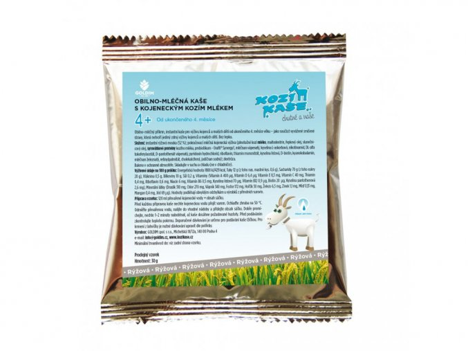 Goldim Kaša z kozieho mlieka ryžová 30g