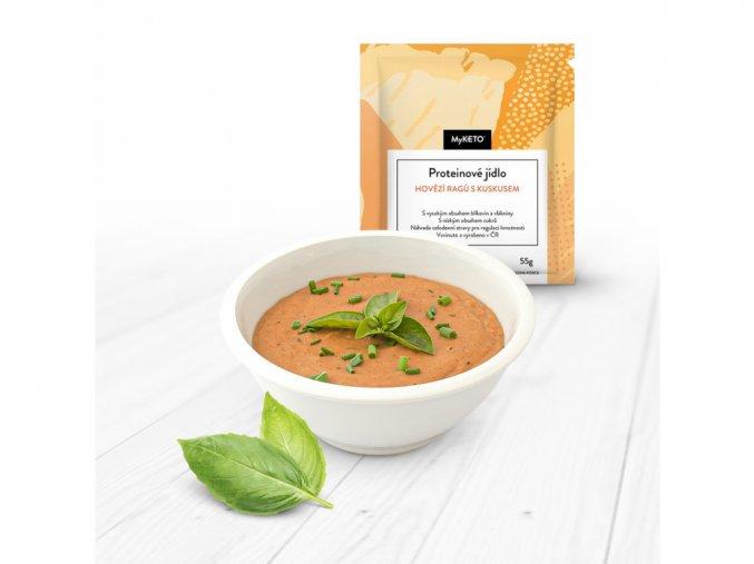 MyKETO Proteínové jedlo HOVÄDZIE RAGÚ S KUSKUSOM 55g