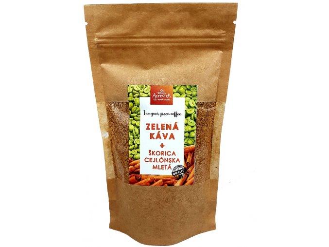 Altevita Zelená káva mletá s cejlónskou škoricou 200g