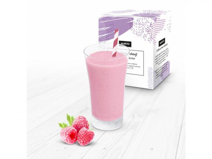 MyKETO Proteínový koktail s príchuťou malina 1 porcia 40g