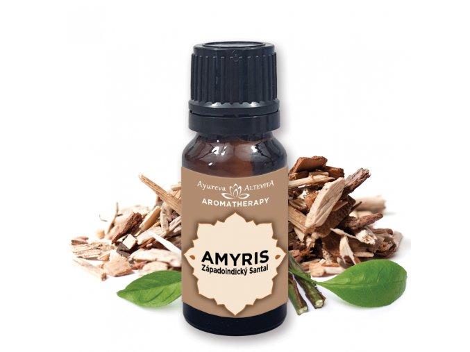 """Altevita 100% esenciálny olej AMYRIS – Olej kreativity a uvoľnenia """"Západoindický santal"""" 10ml"""