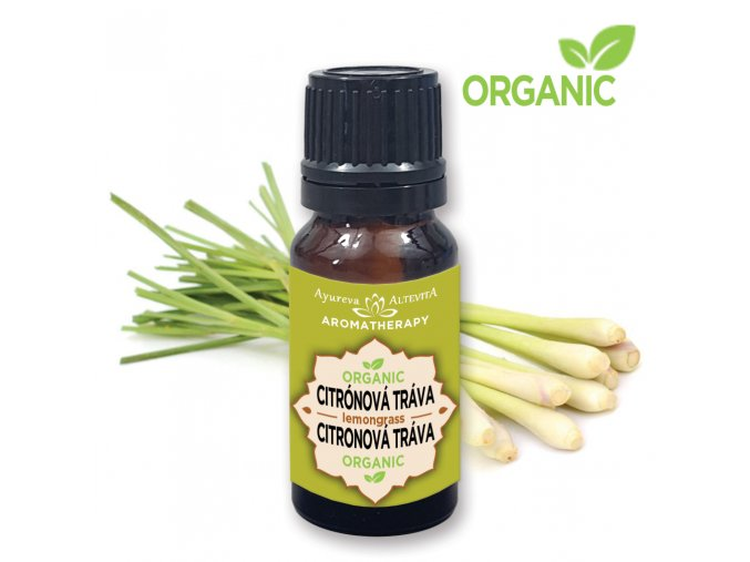 Altevita 100% esenciálny olej ORGANIC LEMONGRASS (citrónová tráva) - Olej čistenia od nepotrebného
