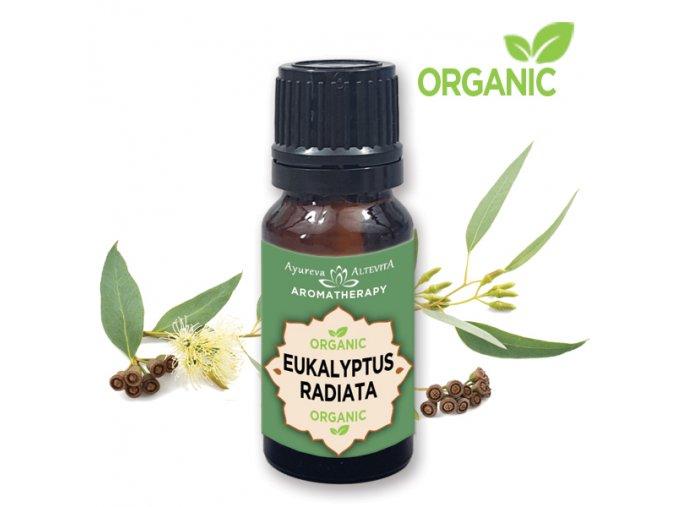 Altevita 100% esenciálny olej ORGANIC EUKALYPTUS Radiata - Olej zdravia 10ml