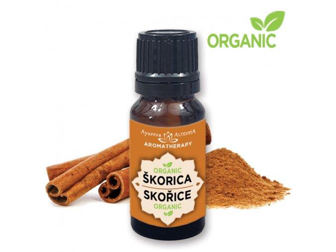 Altevita 100% esenciálny olej ORGANIC CINNAMON (škorica) 10ml