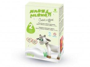 Goldim Naše mléko 2 pokr. Výživa z kozieho mlieka 6-12 m 525 g
