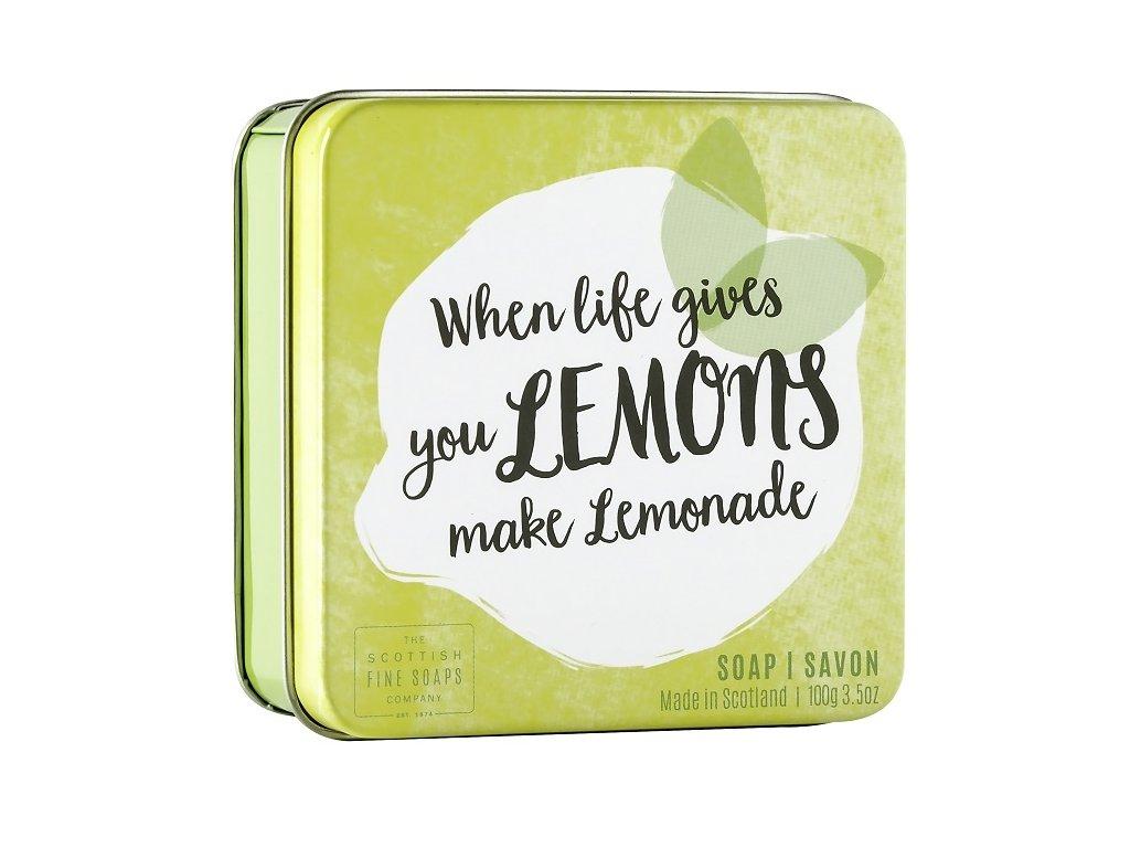 41456 1 scottish fine soaps mydlo v plechu when life gives you lemons make lemonade 100g