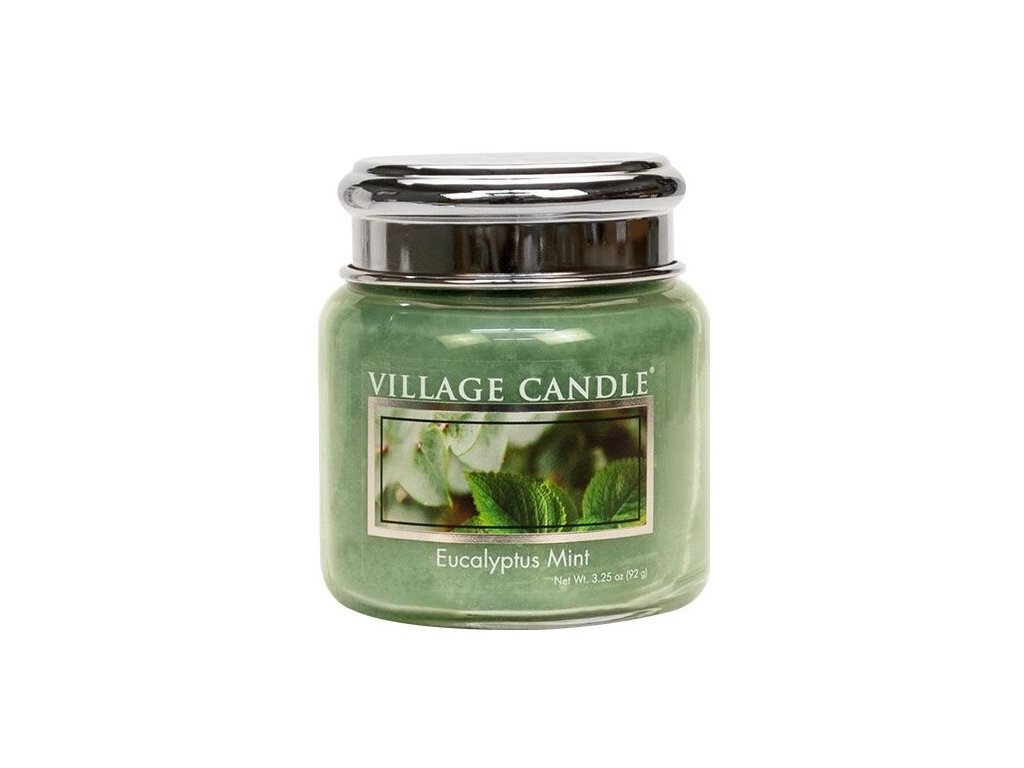 45524 1 village candle vonna svicka ve skle eukalyptus a mata eucalyptus mint 3 75oz