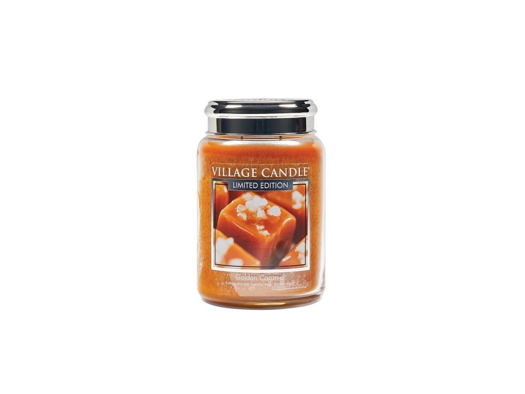 46337 1 village candle vonna svicka ve skle zlaty karamel golden caramel 26oz