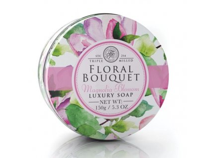 47546 2 somerset toiletry mydlo v plechu magnolie 150g