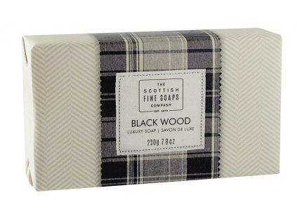 42071 1 scottish fine soaps jemne mydlo cerne drevo 220g