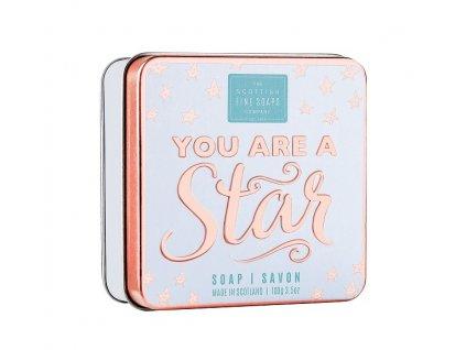 40568 1 scottish fine soaps mydlo v plechu you are a star 100g
