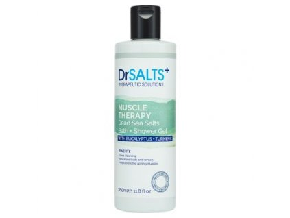45815 1 dr salts koupelovy a sprchovy gel muscle therapy 350ml