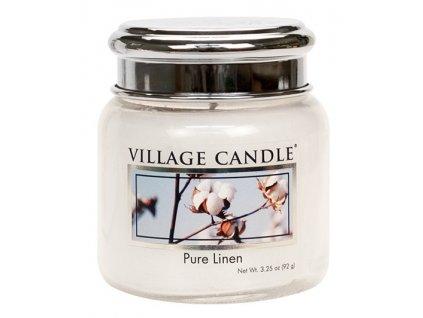 42707 1 village candle vonna svicka ve skle ciste pradlo pure linen 3 75oz