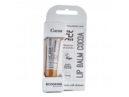 65133 ecooking balzam na rty odstin cocoa kakao 15ml