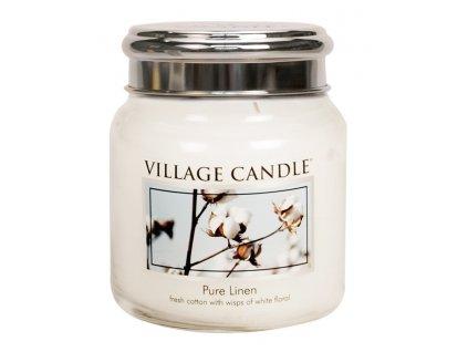 41876 1 village candle vonna svicka ve skle ciste pradlo pure linen 16oz