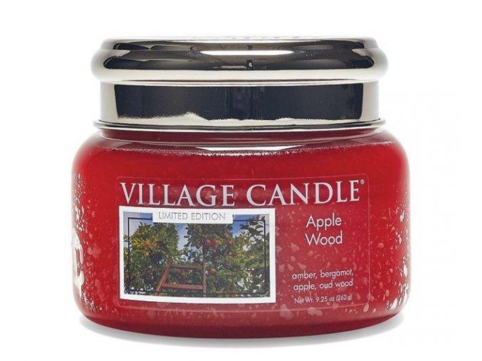 46438 1 village candle vonna svicka ve skle jablonove drevo apple wood 11oz