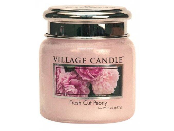 44522 1 village candle vonna svicka ve skle pivonky fresh cut peony 3 75oz