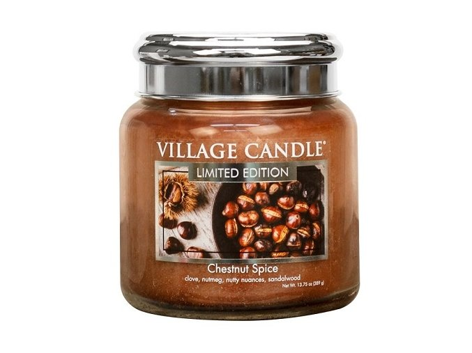 57426 village candle vonna svicka ve skle chestnut spice 16oz