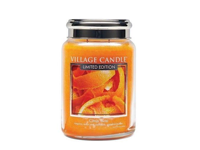 46328 1 village candle vonna svicka ve skle citrusove osvezeni citrus twist 26oz