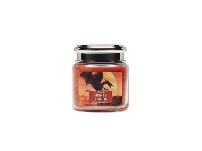 46280 1 village candle vonna svicka ve skle mocny drak mighty dragon 3 75oz
