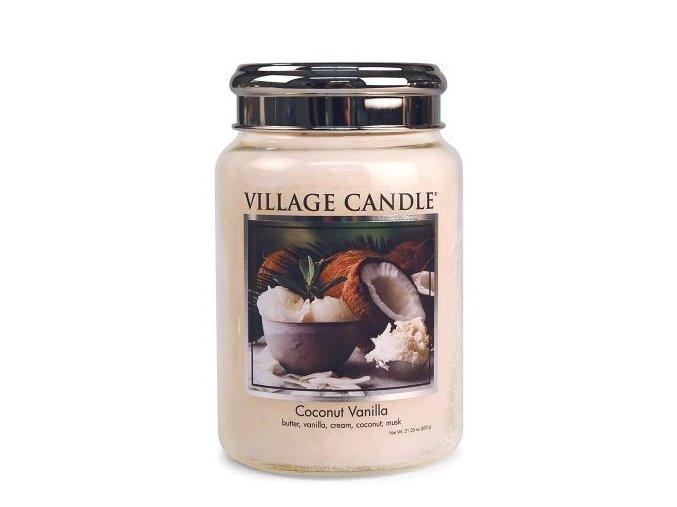 46301 1 village candle vonna svicka ve skle kokos a vanilka coconut vanilla 26oz