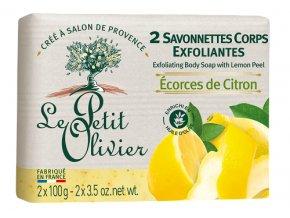 41219 1 le petit olivier peelingove mydlo citron 2x100g