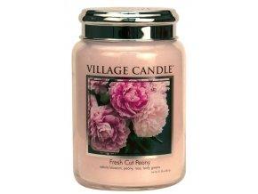 44498 1 village candle vonna svicka ve skle pivonky fresh cut peony 26oz