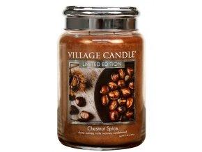 57279 village candle vonna svicka ve skle chestnut spice 26oz