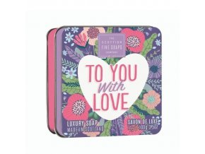 45569 1 scottish fine soaps mydlo v plechu to you with love 100g