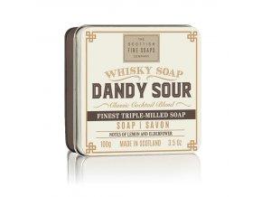 40598 1 scottish fine soaps mydlo v plechu whisky dandy sour 100g