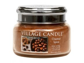 57555 village candle vonna svicka ve skle chestnut spice 11oz