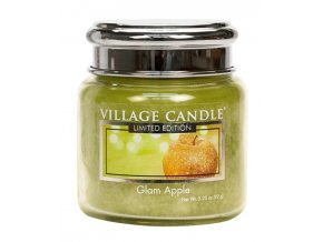 57750 village candle vonna svicka ve skle glam apple 3 75oz