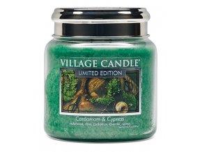46316 1 village candle vonna svicka ve skle kardamom a cypris cardamom cypress 16oz