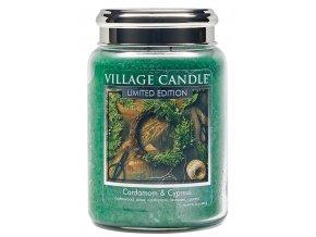 46319 1 village candle vonna svicka ve skle kardamom a cypris cardamom cypress 26oz