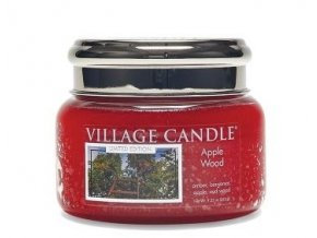 46304 village candle vonna svicka ve skle jablonove drevo apple wood 11oz