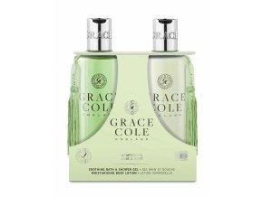 59820 grace cole sprchovy gel telove mleko grapefruit lime mint 2x300ml