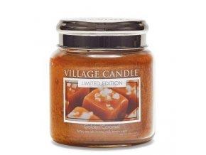 46334 1 village candle vonna svicka ve skle zlaty karamel golden caramel 16oz