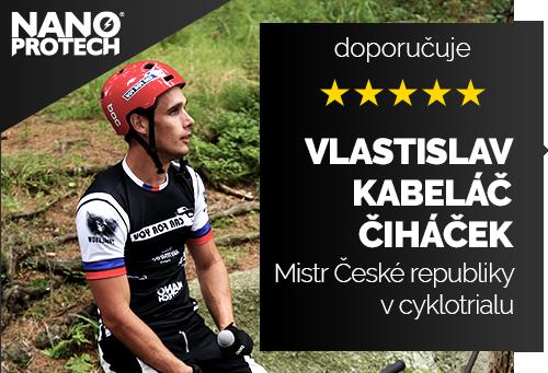 Vlastislav Kabeláč Čiháček - mnohonásobný mistr České republiky v cyklotrialu