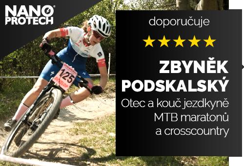Zbyněk a Anna Podskalských - Otec kouč a dcera mladá talentovaná jezdkyně crosscountry a MTB maratonů na horských kolech